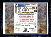 Сертификат почетного члена Всемирной Ассоциации Академии Спортивной культуры