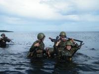 Военно-патриотический лагерь на острове Коневец Ладожского озера 2017